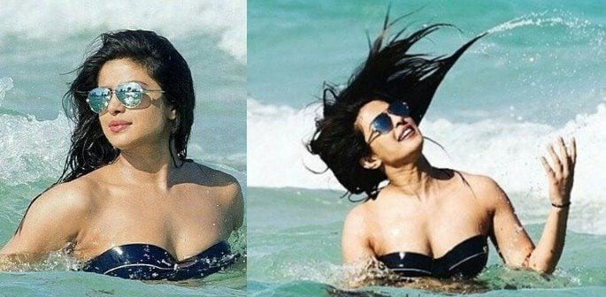 Priyanka Chopra heats up the Beach in hot Black Bikini