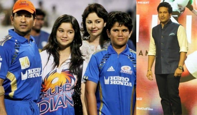 Sachin with fam
