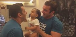 Salman Khan getd KO'd by Adorable Nephew Ahil