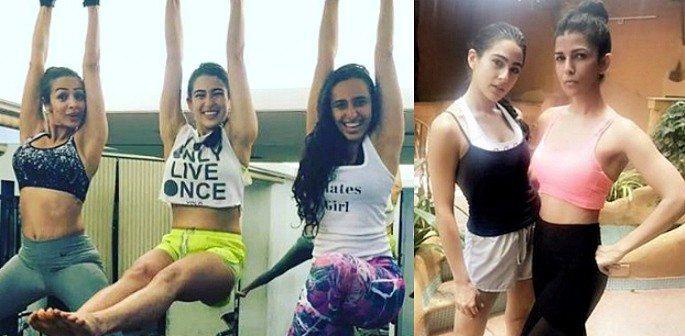 Sara Ali Khan hits the Gym with Malaika Arora for Bollywood Debut