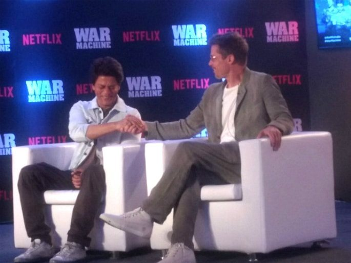 Shahrukh Khan's Special Bromance with Brad Pitt in Mumbai