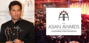 सचिन तेंदुलकर और सनी पवार ने द एशियन अवार्ड्स 2017 में सम्मानित किया
