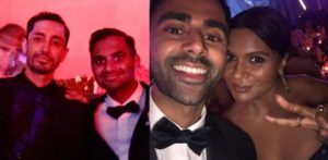 Riz Ahmed, Mindy Kaling, and Aziz Ansari hang out at Met Gala 2017