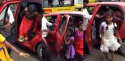 20 Children are transported by One Small Car in India