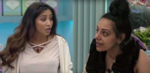 Big Brother's Sukhvinder and Kayleigh argue Hair Brushing in Kitchen