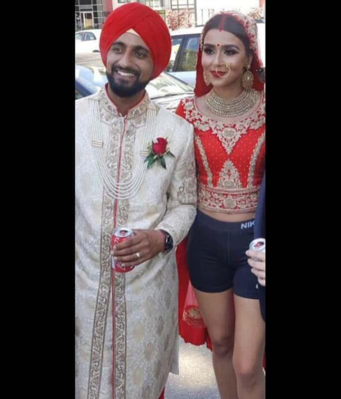 Indian Bride breaks Internet by wearing Gym Shorts instead of Lehenga