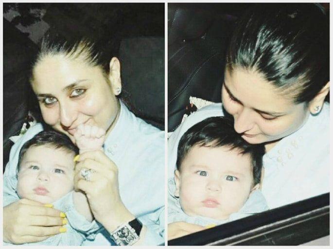 Kareena and baby Taimur 'Wave' to the Paparazzi