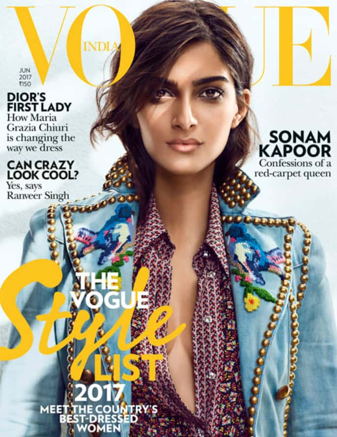 Sonam Kapoor smoulders in Gucci for Vogue India Cover
