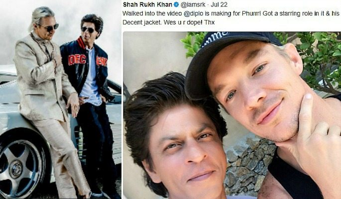 Shahrukh Khan and Diplo pictured together in Los Angeles