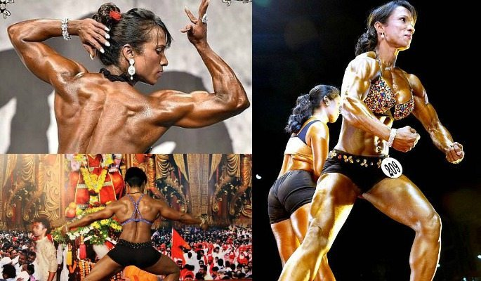 41-year-old Karuna Waghmare is an experienced Indian female bodybuilder