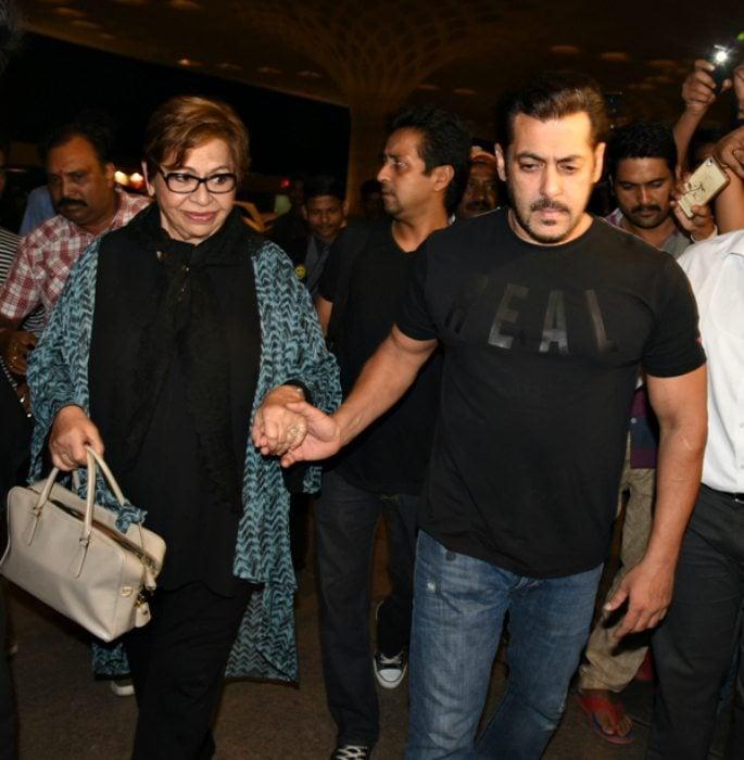 Salman Khan takes mother Helen to New York for IIFA's