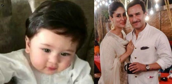 Taimur Ali Khan looks Cute and Handsome in White Kurta