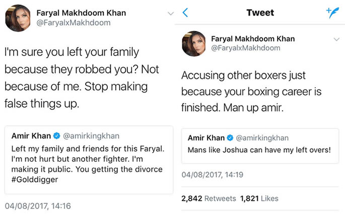 Boxer Amir Khan splits from wife Faryal Makhdoom