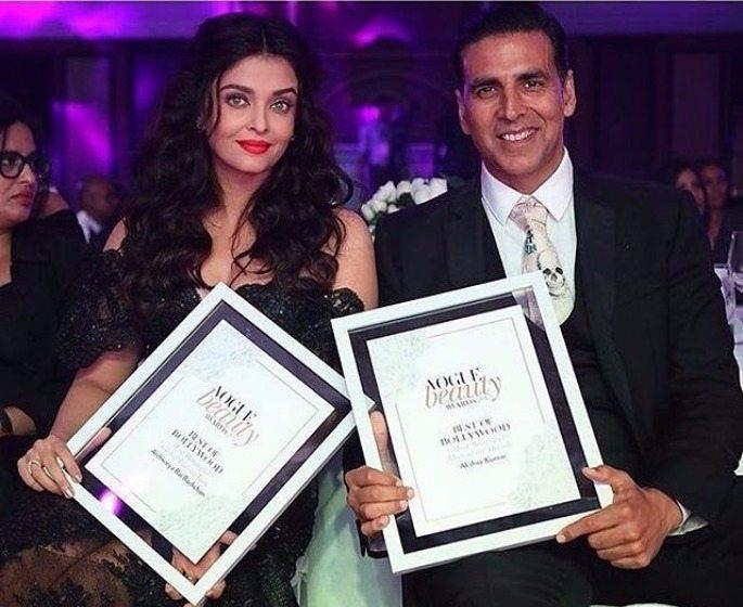 Aishwariya and Akshay Vogue Beauty Awards