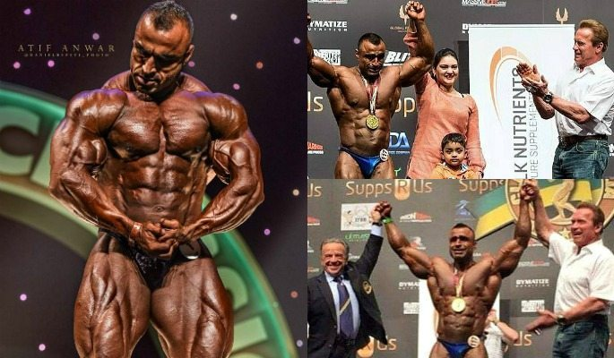 As of August 2017, Atif Anwar is the only Pakistani bodybuilder with an IFBB Pro Card