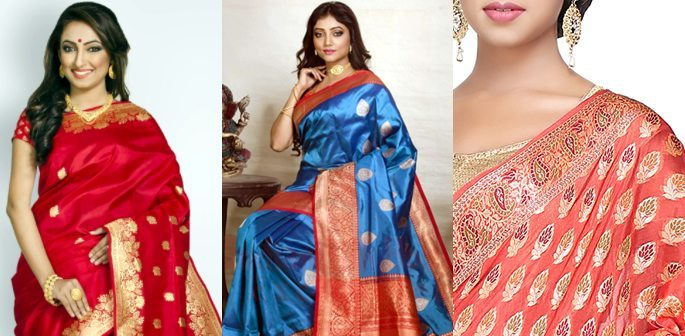 510ffd4acb Beautiful Katan Saree Styles and Designs to Wear | DESIblitz