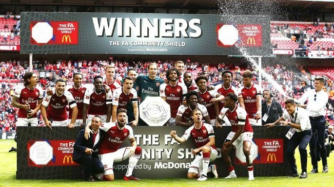 Arsenal won the 2017 FA Community Shield against Chelsea