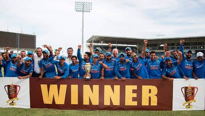 India won their 5 match ODI series against the West Indies, 3-1