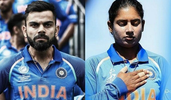 Virat Kohli and Mithali Raj are the respective captains of the two Indian cricket teams