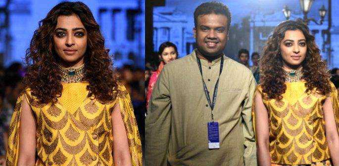 Radhika Apte walks the Catwalk for Lakmé Fashion Week