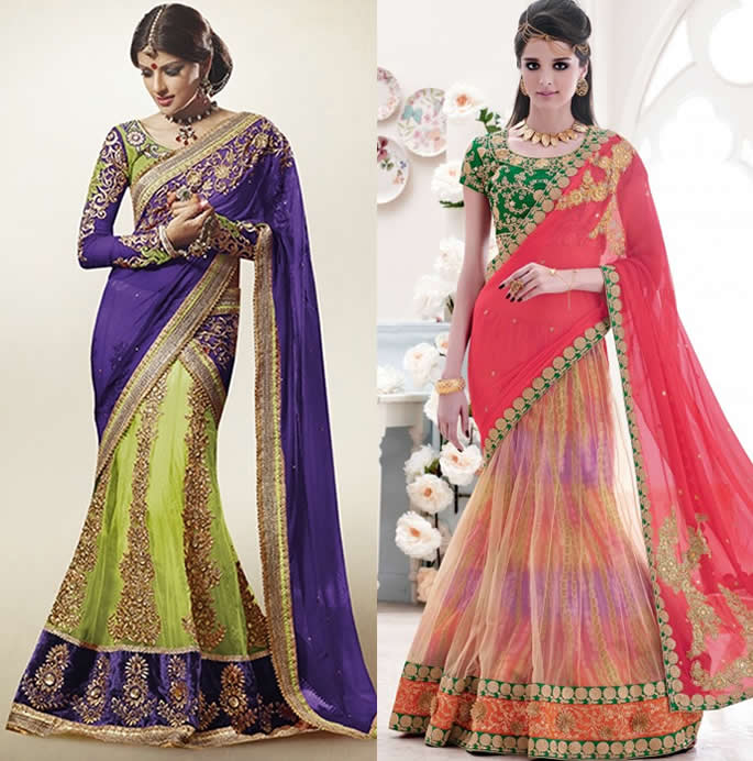 Exquisite Lehenga Saree Styles to Adore and Wear