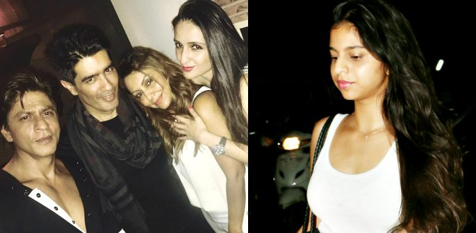 Suhana Khan at Cinema Outing while SRK and Gauri Party