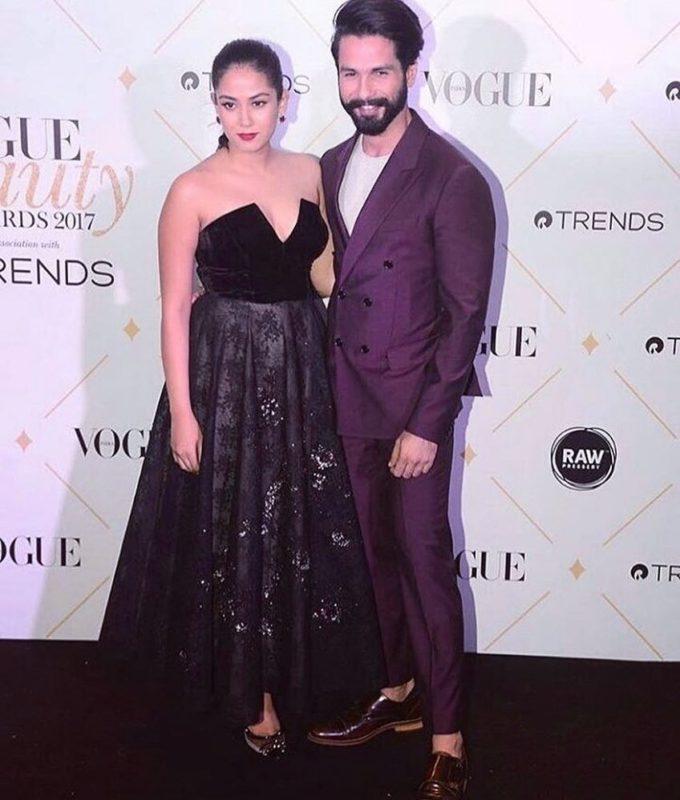 Shahid And Mira Vogue Beauty Awards