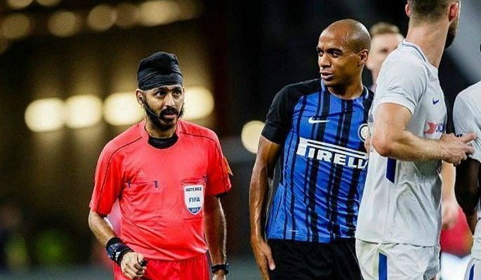 Sukhbir Singh took charge of the ICC match between Chelsea and Inter Milan