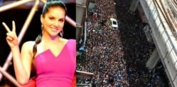Sunny Leone attracts Huge Crowds to see Her in Kochi