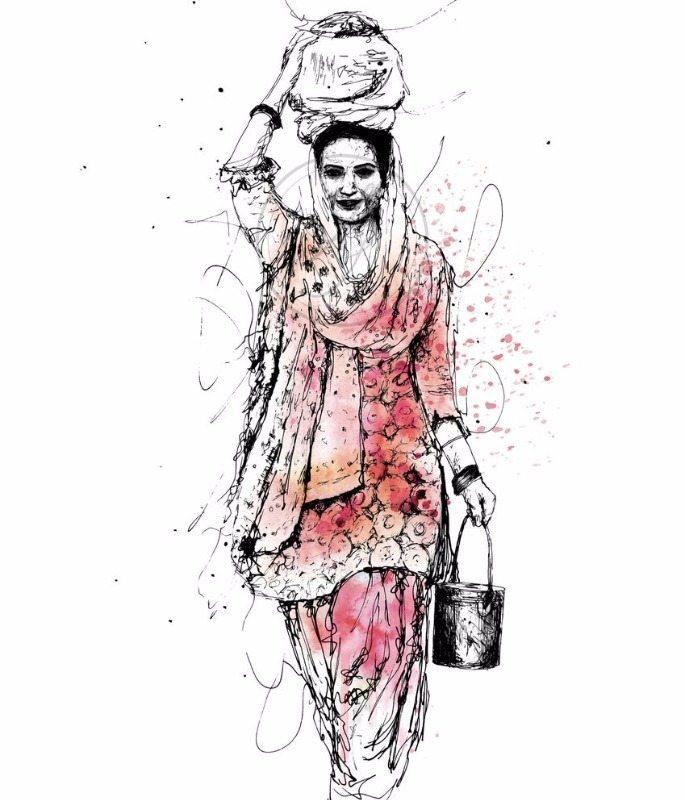 Artful-Skecha-Punjabi-Woman