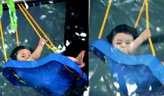 Mum Kareena Kapoor is busy at Gym while son Taimur Chills