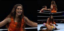 WWE போட்டியில் சல்வார் கமீஸில் கவிதா தேவி மல்யுத்தம் செய்கிறார்