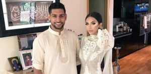 Amir and Faryal standing together
