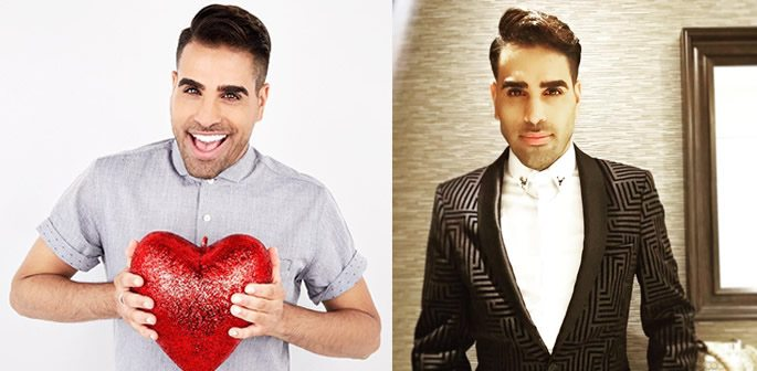 College of Dr Ranj Singh holding a heart and wearing a suit