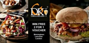 Win Free 2 for 1 German Doner Kebab Meal Vouchers