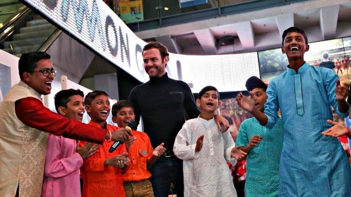 Juan Mata travelled to Mumbai, India, in June 2017 to speak to young Indians