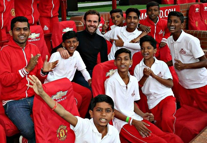 The children seem to have inspired Juan Mata as much as the other way around as he wishes to return to India