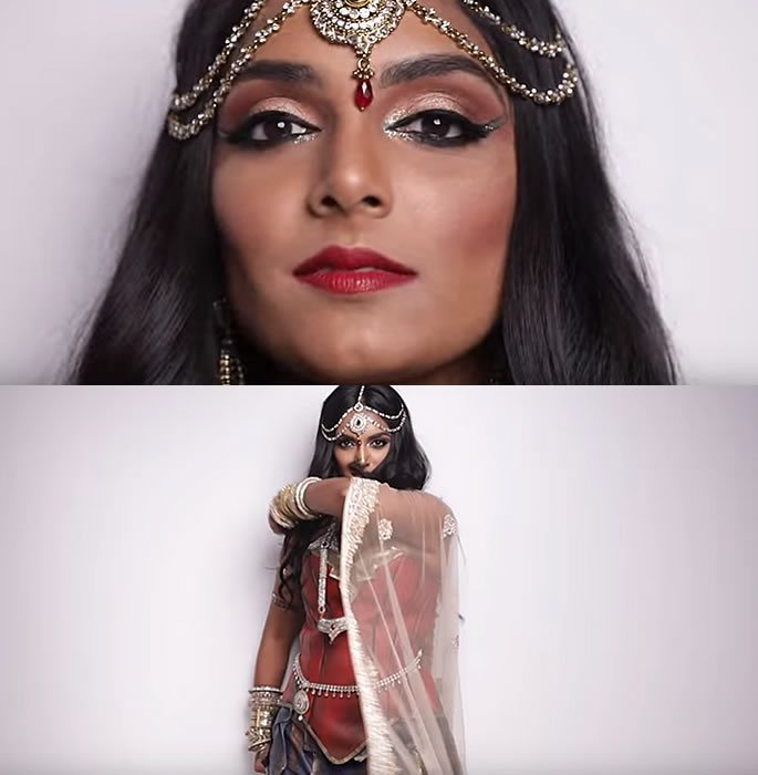 Indian Wonder Woman Cosplay looks