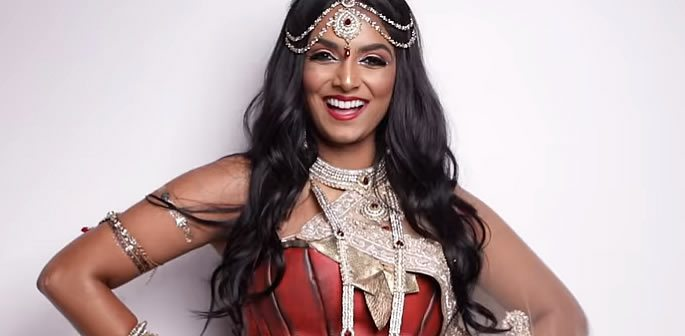 Indian Wonder Woman Cosplay look by Deepica Mutyala