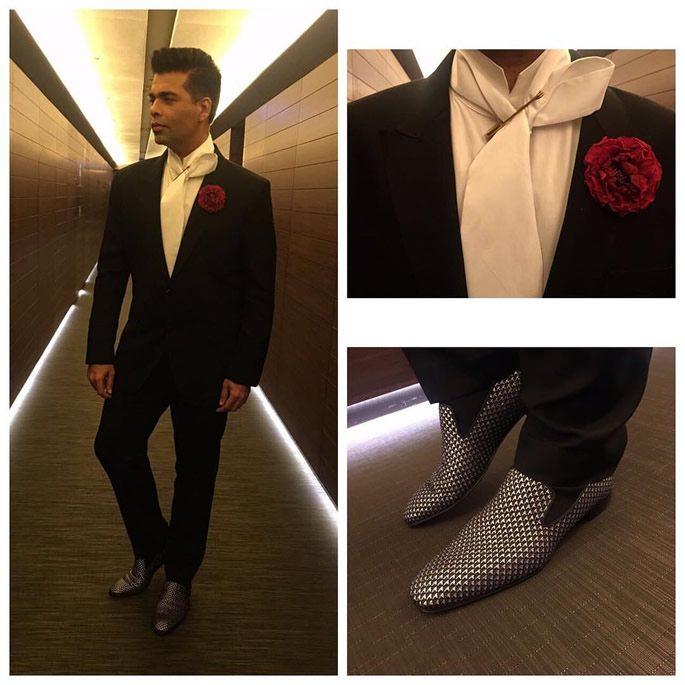 Karan wearing a smart suit