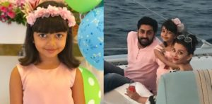 Aaradhya with her family