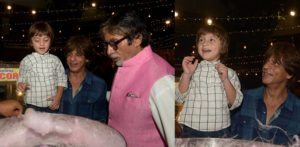 AbRam with SRK and Amitabh