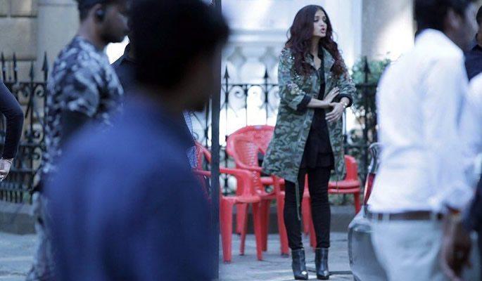 Aishwarya filming scenes