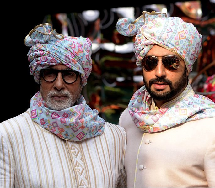 Amitabh with son Abhishek