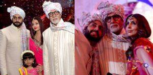 The Bachchans at a Mumbai wedding