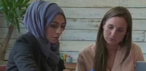 Bushra with Sarah