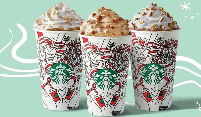 Starbucks' Christmas range