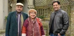 Auntie and Uncle arrive to EastEnders with Masood Ahmed