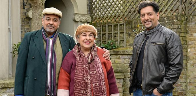 Masood with Auntie and Uncle