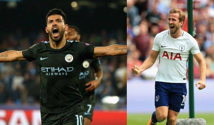 Sergio Aguero and Harry Kane are top premier League goalscorers with 8 goals each